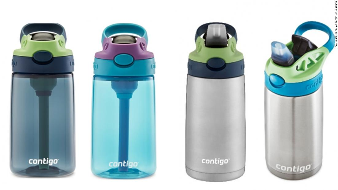 Millions of Contigo water bottles recalled because of the risk kids will choke on detachable spout – CNN