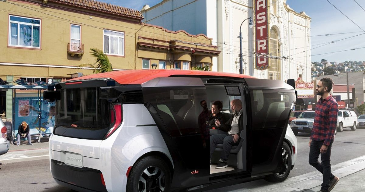 Cruise's self-driving electric shuttle is made for ridesharing – Engadget