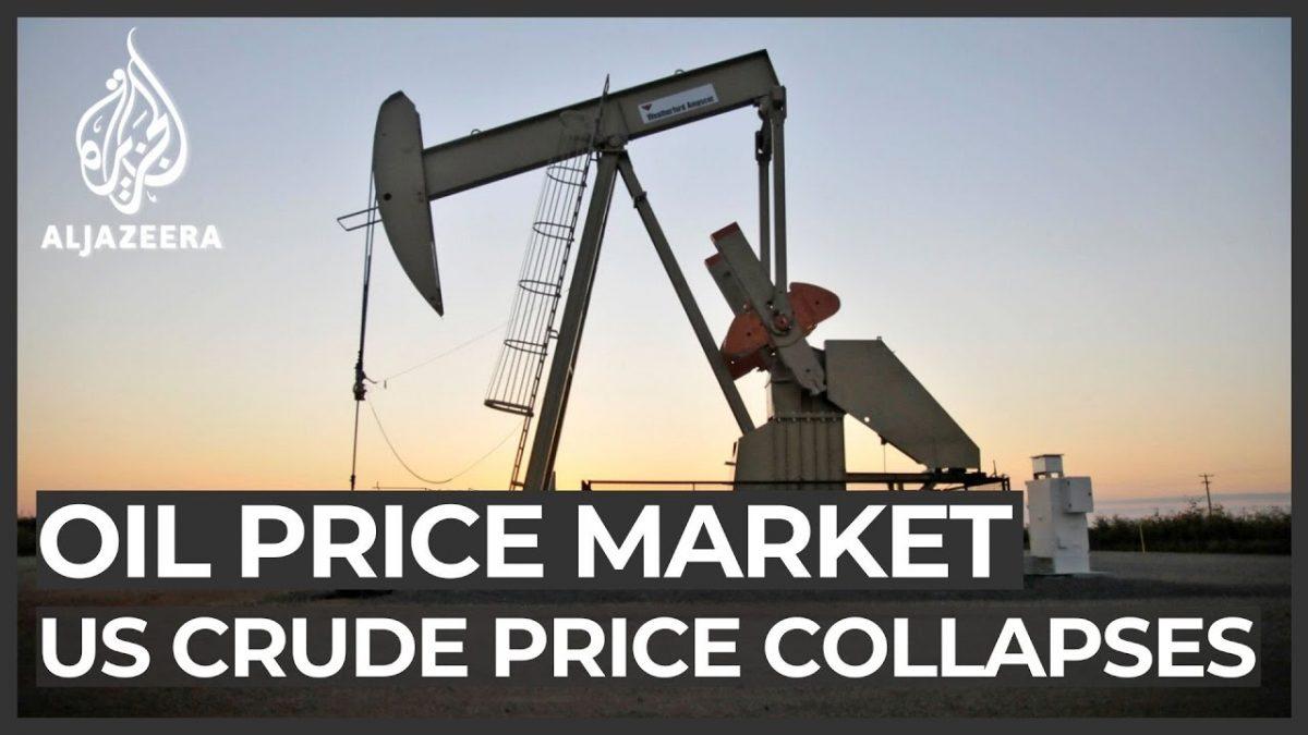 Crash! US crude futures turn negative for first time in history – Al Jazeera English