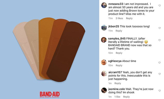 Band-Aid announces inclusive new line of bandages to match a range of different skin tones – Daily Mail